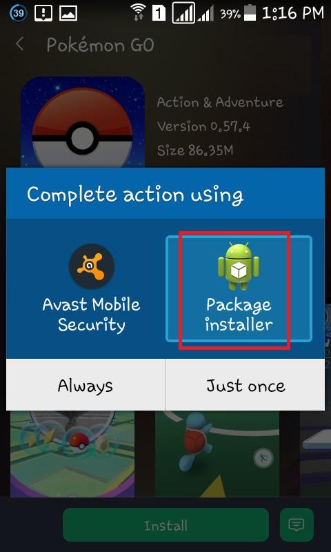 PokemonGo Install