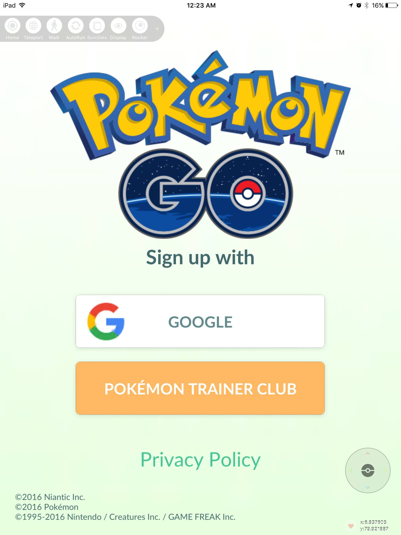 PokemonGo account