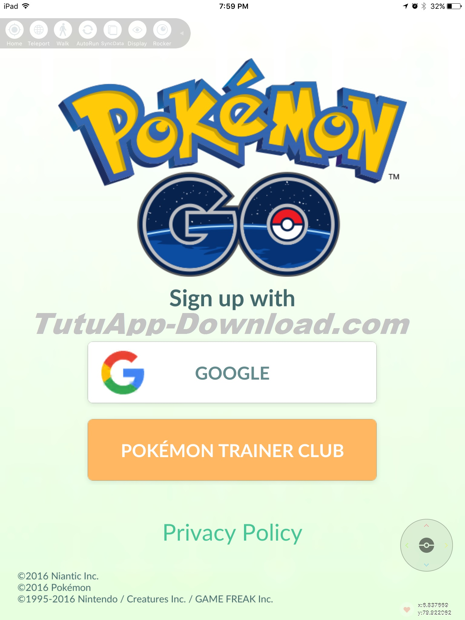 PokemonGo hack account