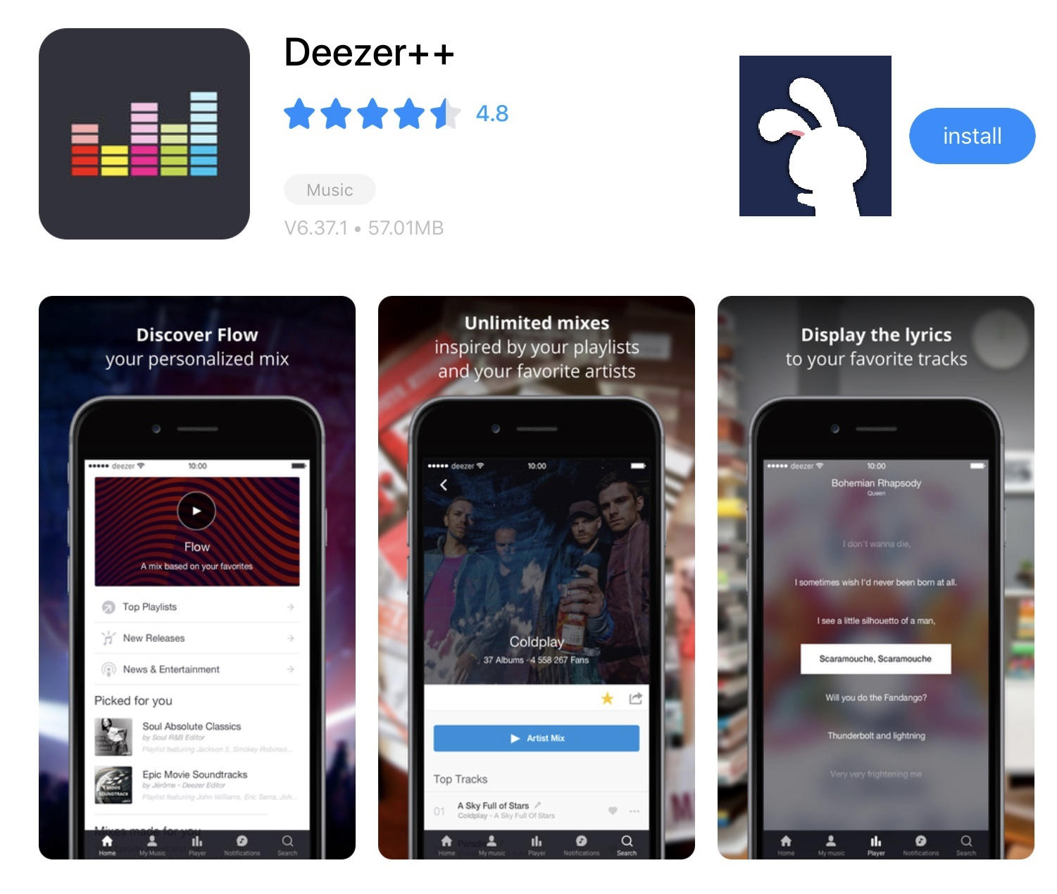 TutuApp Deezer++ Music Free Download For Music Lovers  – TutuApp